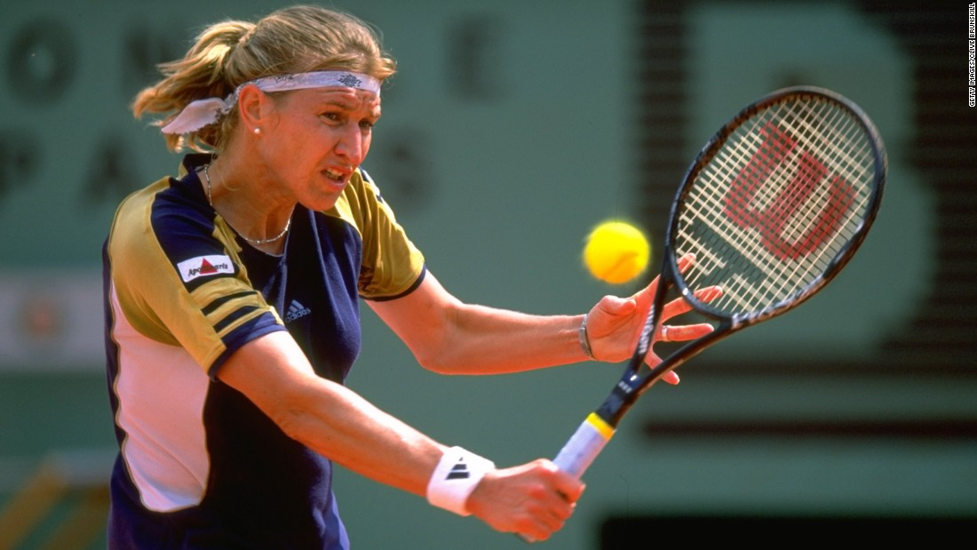 Graf holds the all-time grand slam record in the women's modern era of 22 titles. The German had won six in a row before losing to Sanchez-Vicario.
