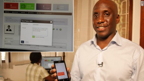 Kaakpema Yelpaala is a social entrepreneur in Kampala. After years working in the public health sector, he was inspired to start a business providing healthcare solutions through mobile tech. And so Access Mobile was born. Their first product was Clinic Communicator -- a platform that facilitates doctor-patient interaction through text messages and email.