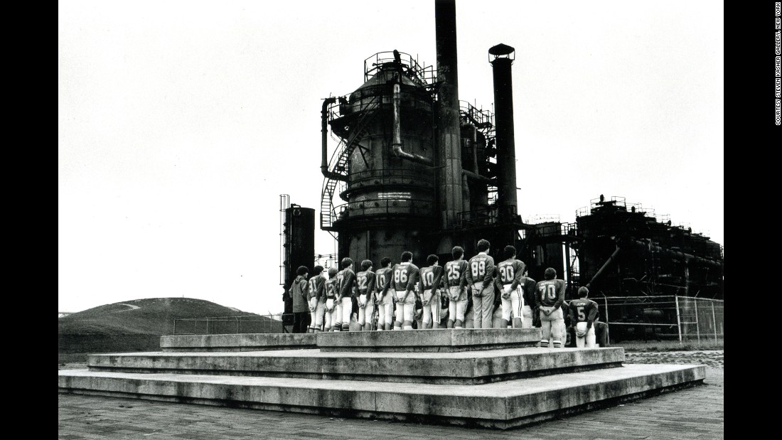 """Football Team with Smokestacks, Seattle"" (1984)"