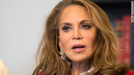 Pamela Geller is interviewed at The Associated Press, Thursday, May 7, 2015 in New York. Geller is one of the nation's most outspoken critics of Islamic extremism, taking the hard-edge view that such extremism sprouts not from fringe elements but the tenets of the religion itself. She was the organizer of a controversial cartoon contest about the Prophet Muhammad in Texas last weekend where two men started shooting before they were killed by police.