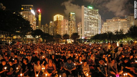 A view of Victoria Park as the vigil takes place.