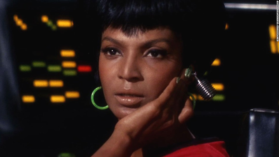 "Nichelle Nichols played Lt. Uhura, the communications officer on the Starship Enterprise, in the original ""Star Trek"" TV series and films. In the recent movie reboots, her role was played by Zoe Saldana."