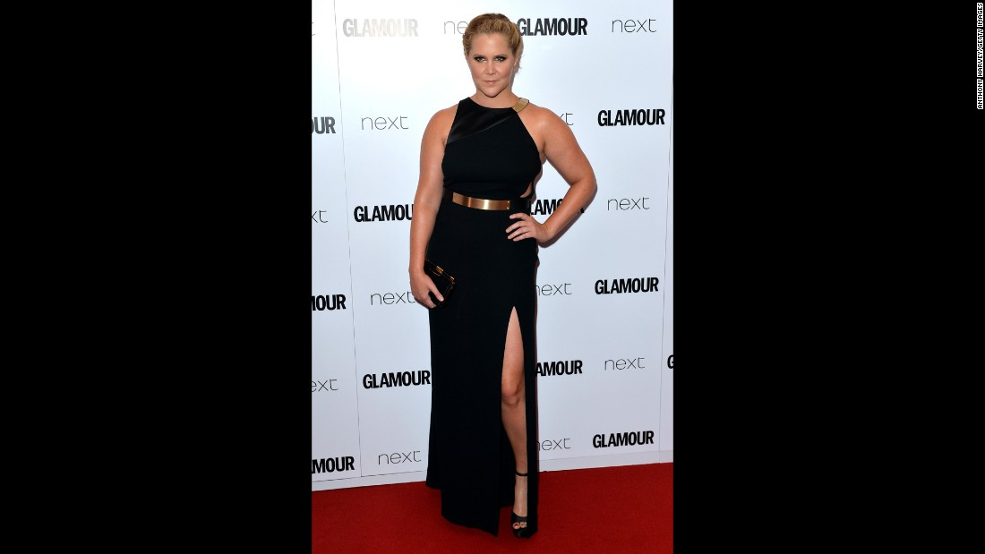 "<a href=""https://www.instagram.com/p/BD0sVf9KUCy/?taken-by=amyschumer&hl=en"" target=""_blank"">Amy Schumer recently posted an Instagram photo </a>that she said was of Glamour magazine including her with plus-size performers. It's not the first time she's been categorized as such. In February 2015, she shot back at a critic who accused her of being overweight by <a href=""https://pbs.twimg.com/media/B9rSuqBIQAA66as.jpg"" target=""_blank"">posing topless in her underwear. </a>In June, she <a href=""http://www.mtv.com/news/2177647/amy-schumer-glamour-award-acceptance/"" target=""_blank"">accepted a Glamour Award</a> in London and said in her speech, ""I'm probably like 160 pounds right now, and I can catch a d*** whenever I want. That's the truth. It's not a problem."""