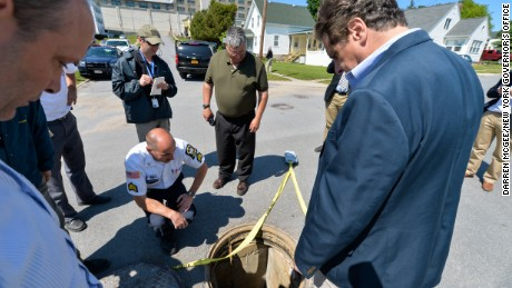 New York Governor Cuomo tours Dannemora correctional facility where two inmates escaped.