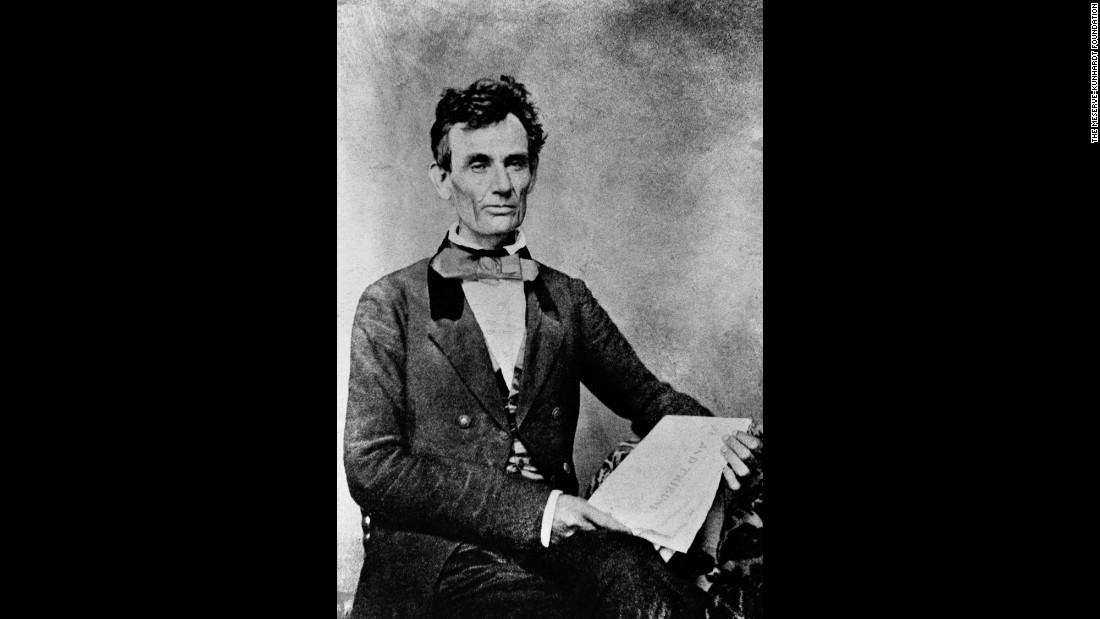 Lincoln in Chicago, probably on October 27, 1854. The photographer was the eloquently named J.C.F. Polycarpus von Schneidau. Von Schneidau, a European immigrant who opposed slavery, got the first photograph of Lincoln in eight years. Lincoln came to understand that the reproduction of such images would enhance his career, biographer Harold Holzer noted.