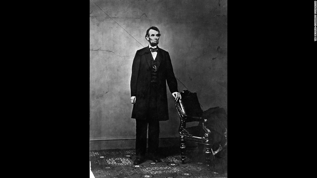 "Lincoln stands on February 9, 1864, in this photo taken by Anthony Berger. A different Berger portrait is the basis for the President's images on the penny. Peter W. Kunhardt Jr. said <a href=""https://steidl.de/Books/The-Photographs-of-Abraham-Lincoln-0326314748.html"" target=""_blank"">the recently published book</a> has all 114 known portraits of Lincoln, though there could be more not yet discovered or publicized."