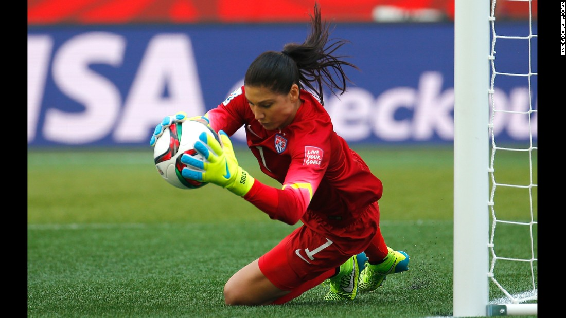 USWNT 'keeper Hope Solo put in an outstanding performance Monday as she helped her team to a 3-1 victory over Australia in its opening Women's World Cup match. The U.S. is one of the favorites to lift the trophy.