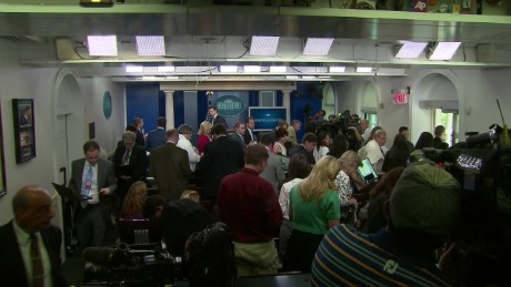 White House press briefing room evacuated secret service Josh Earnest_00001302.jpg