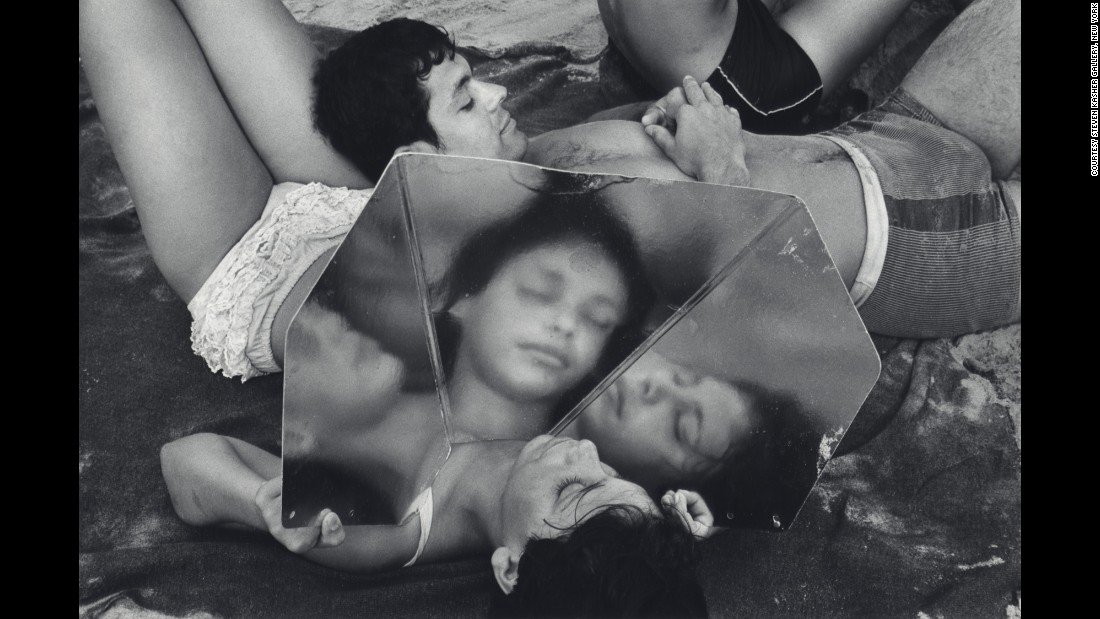 """Beach Mirror, Coney Island, New York"" (1969)"