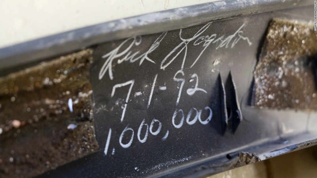 """Somebody took the time to write their name on the undercarriage. We need to take the time to make sure that we straighten that piece of metal instead of replacing it,"" Bolognino said."
