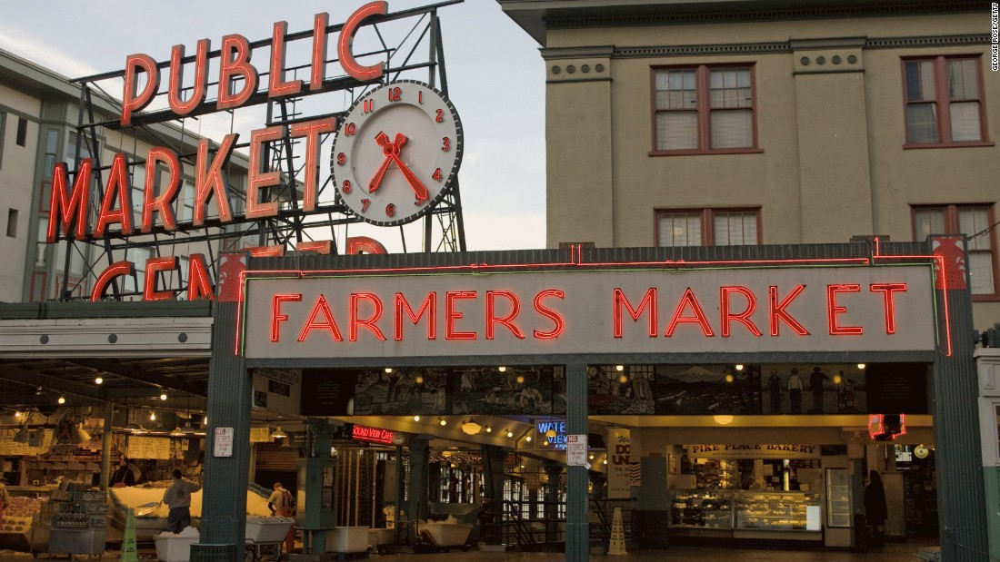 Pike Place Farmers Market in Seattle