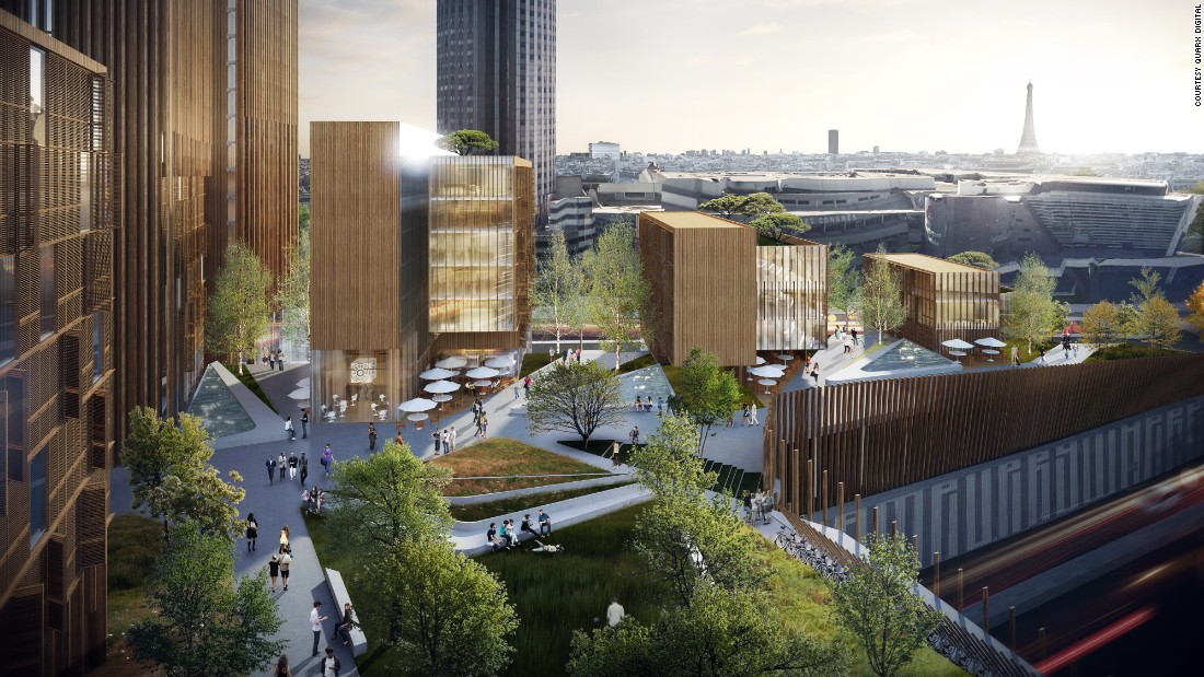 "The roof garden of the MGA-designed wooden skyscraper proposed for Paris as part of the <a href=""http://www.reinventer.paris/en/home/"" target=""_blank"">Reinventer Paris</a> competition."