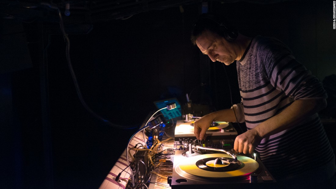 A DJ spins tunes in Beirut, Lebanon.