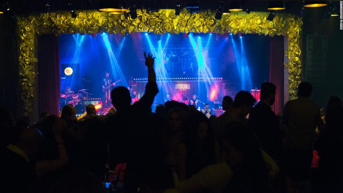 The main stage at Beirut Music Hall in Beirut, Lebanon.