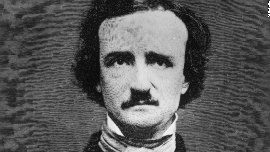 "American poet <strong>Edgar Allan Poe</strong> (1809-49) also wrote short stories and essays and is widely credited with inventing the modern detective story. A master of dark, spooky atmosphere, he became a sensation after the 1845 publication of his narrative poem ""The Raven."""