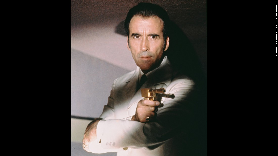 "In 1974, Lee takes on the role of Bond villain Francisco Scaramanga in ""The Man With the Golden Gun."""
