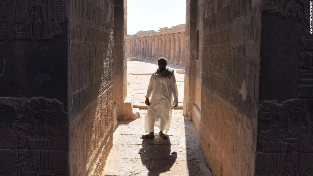 "<a href=""http://ireport.cnn.com/docs/DOC-1248403"">Jasmine Hassan</a>, who lives in Cairo, finds the stunning ancient ruins of Egypt the most unique aspect of this remarkable country. Here her guide from a trip made several years ago stands in the shadow of the Philae temple in Luxor. ""You never get bored in Egypt,"" she observes."