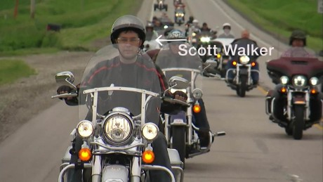 Will biker cred help Scott Walker with Harley voters?