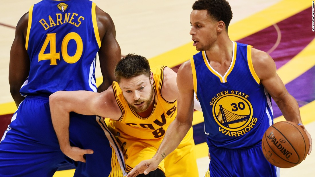 "The clutch shooting and pesky defense provided by ""Delly"" helped Cleveland win two of the first three games in the 2015 series. Curry began the series making just four of his first 21 three-point attempts, before finding his rhythm in Game 3."