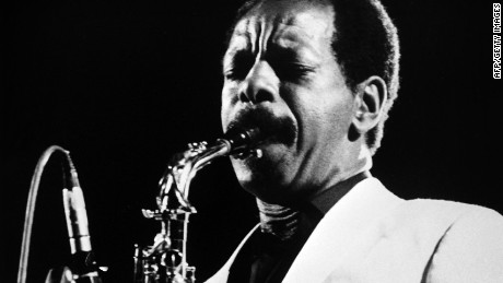 "(FILES) A photo taken on June 30, 1983 shows US jazz saxophonist and composer Ornette Coleman performing in Rome. Ornette Coleman, whose 1959 album ""The Shape of Jazz to Come"" is considered one of the most groundbreaking in the genre's history, died on June 11, 2015 in New York, at the age of 85. AFP PHOTO / ANSA -/AFP/Getty Images"