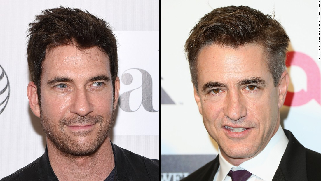 It's not so much the dark good looks that trip up observers of actors Dylan McDermott, left, and Dermot Mulroney but those similar Irish-sounding names. Say them three times, fast!