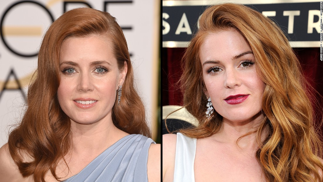 Howard and Chastain aren't the only Hollywood redheads who have people scratching their heads. Academy Award-nominated actress Amy Adams, left, looks a lot like comedic actress Isla Fisher.
