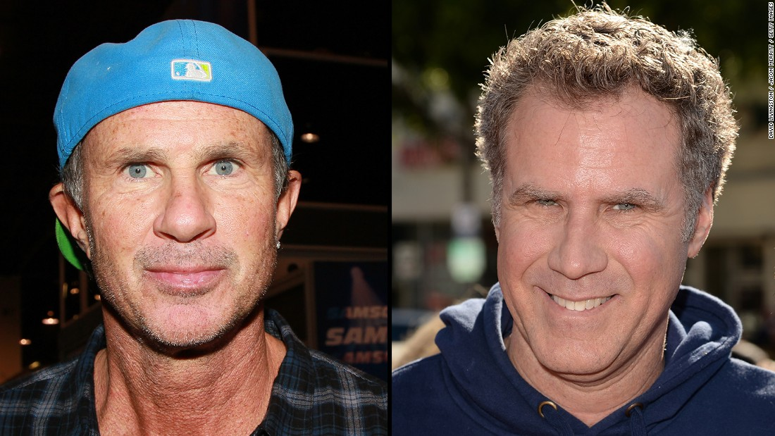 "Chad Smith, left, of the Red Hot Chili Peppers and most hilarious man on Earth Will Ferrell sent up their resemblance <a href=""https://www.youtube.com/watch?v=0uBOtQOO70Y"" target=""_blank"">in a ""drum-off""</a> for ""The Tonight Show Starring Jimmy Fallon."""