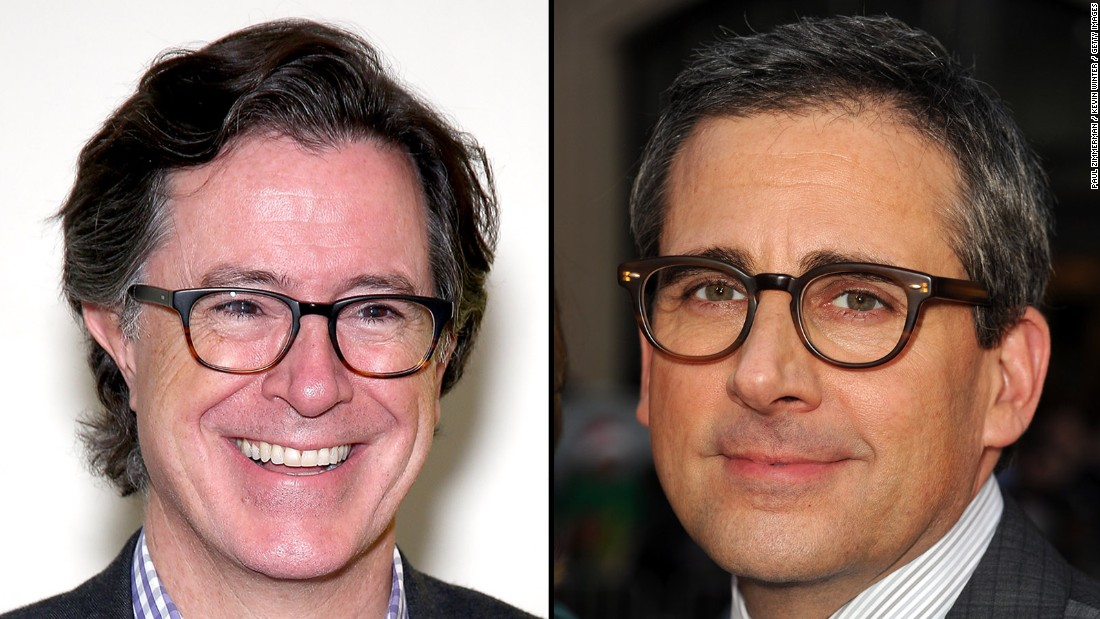 "Stephen Colbert, left, and Steve Carell were both <a href=""http://www.cnn.com/2015/03/31/entertainment/gallery/the-daily-show-famous-alumni/index.html"">correspondents on ""The Daily Show.""</a> Their deadpan senses of humor can be hard to tell apart."