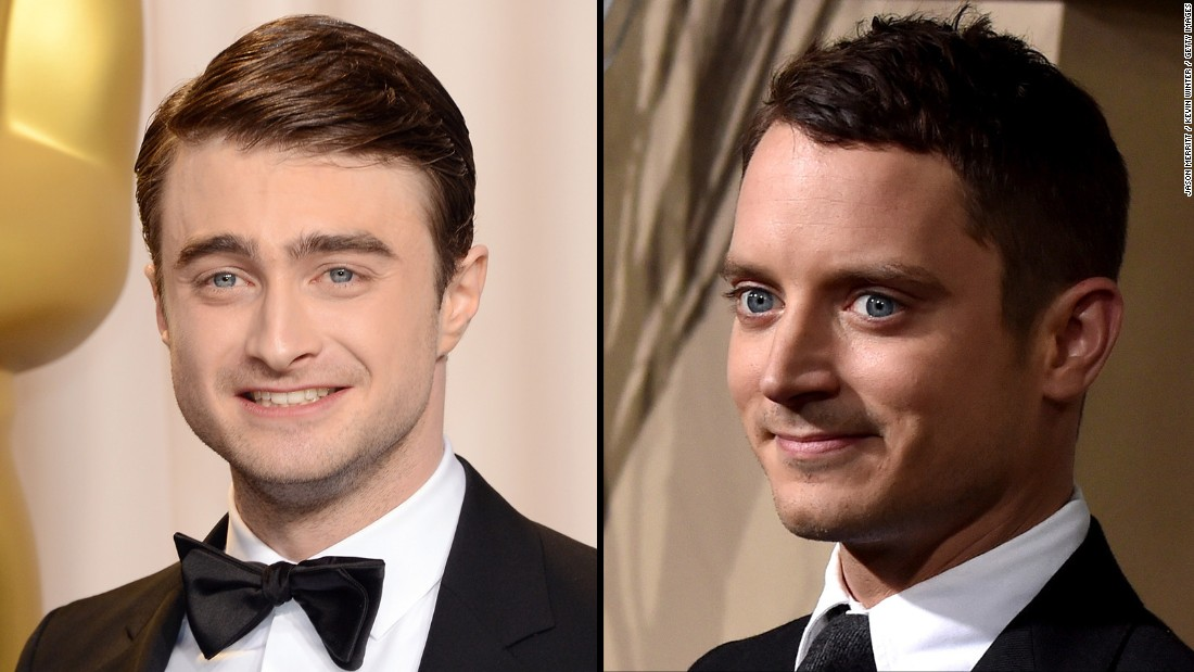 """Harry Potter"" actor Daniel Radcliffe, left, and hobbit Elijah Wood have elfin good looks that can make the guys hard to distinguish from one another."