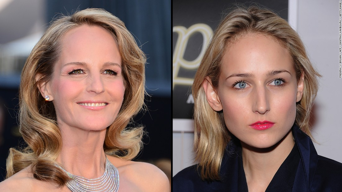 Helen Hunt, left, was a teen actress herself, but she seemed to be reincarnated when a young Leelee Sobieski began acting in the '90s.