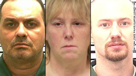 Prisoners Richard Matt and David Sweat, and prison worker Joyce Mitchell
