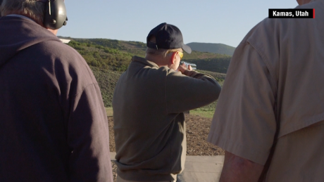 Sen. Lindsey Graham skeet shooting in Kamas, Utah on June 13, 2015.