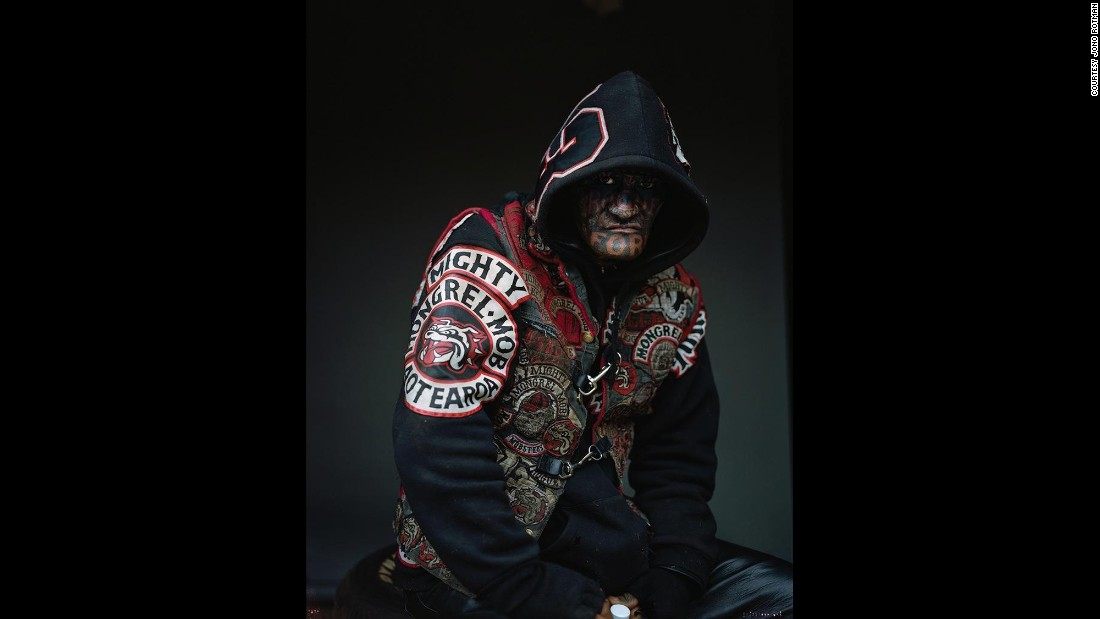 "The Mongrel Mob Portraits, which debuted at City Gallery in Wellington in 2014, were <a href=""http://www.stuff.co.nz/dominion-post/culture/67120679/Photographer-brings-Mob-portraits-exhibition-to-Wellington"" target=""_blank"">criticized for glorifying gang culture</a>. The series included this picture of <a href=""http://www.stuff.co.nz/national/crime/10684645/Murder-victims-dad-offers-mercy"" target=""_blank"">convicted killer Shane Harrison</a>. ""The uproar seems to be more about the idea that you're not allowed to show these people in a respectful way,"" Rotman said. ""It's like they should only be shown in a gritty documentary or in police mug shots."""