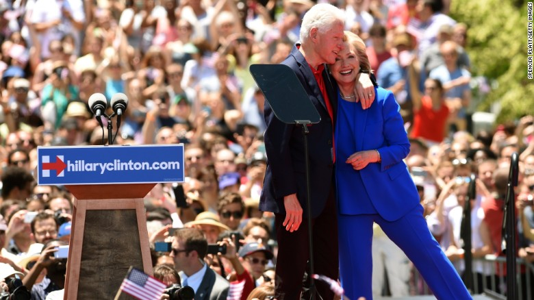 What role does Bill Clinton have in the campaign?