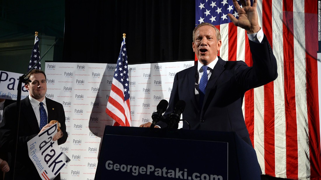 Former Gov. George Pataki, R-New York, who has dropped out of the presidential race.