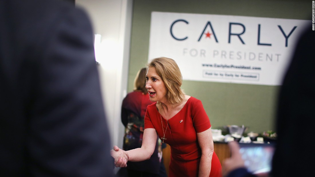 Former Hewlett-Packard CEO Carly Fiorina, Republican, who has dropped out of the presidential race.