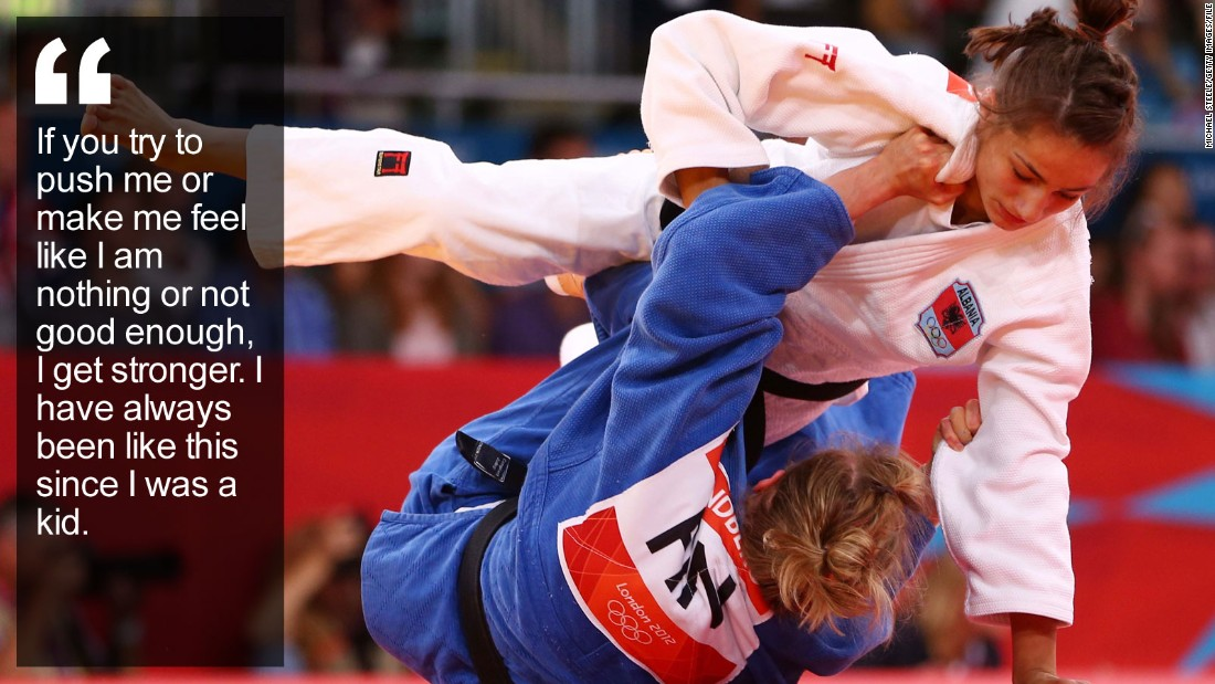 "When the judo champion carries her country's flag at the 2016 Olympics, her powerful fighter's shoulders will also bear the weight of expectation of a nation finally gaining recognition after being ripped apart by war. <a href=""/2015/06/17/sport/majlinda-kelmendi-kosovo-judo-olympics/index.html"" target=""_blank"">Read more</a>"