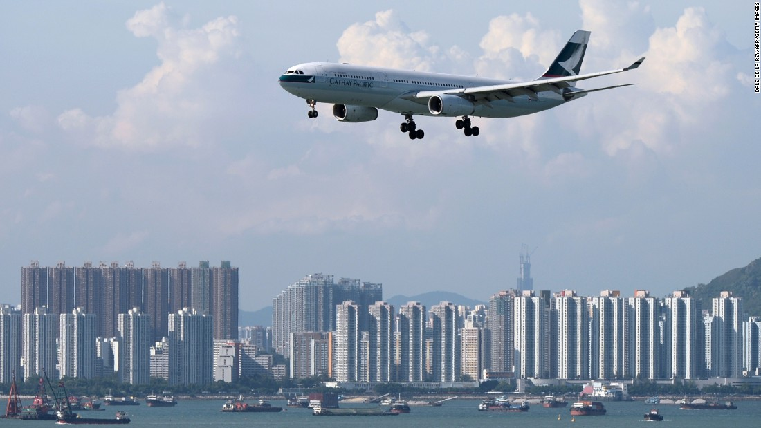 Hong Kong-based airline Cathay Pacific dropped from the third to fourth place this year.