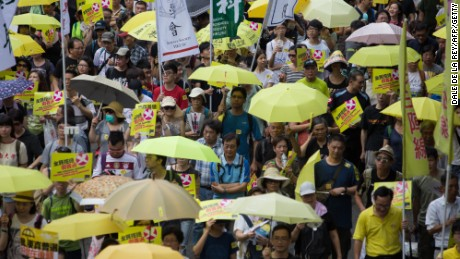 Hong Kong election reform rejected