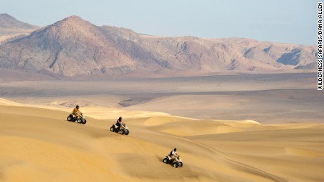 Visitors to Serra Cafema can venture out on quadbike tours and explore the desert's imperious dunes.