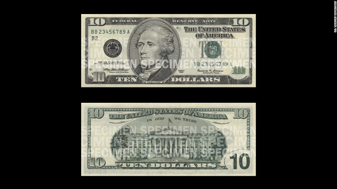 Hamilton is one of two non-Presidents to be featured on current U.S. currency. The other is Benjamin Franklin, whose face is on the current $100 bill. Hamilton's portrait is the only one on current notes where the subject is facing left (unless you count Woodrow Wilson's $100,000 note appearance).