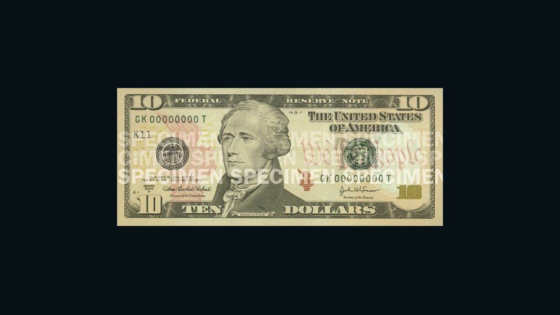 "Alexander Hamilton, the first U.S. secretary of the treasury, is featured on the current $10 bill.  Treasury Secretary Jack Lew <a href=""http://money.cnn.com/2015/06/17/news/economy/woman-on-ten-dollar-bill/index.html"" target=""_blank"">recently announced</a> that a woman will be featured on the bill when it's redesigned in 2020. Click through the gallery to see how the note has evolved:"
