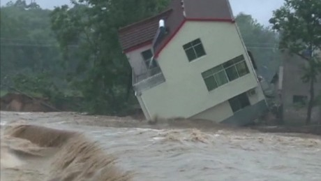 china torrential rain house collapse vo_00000816