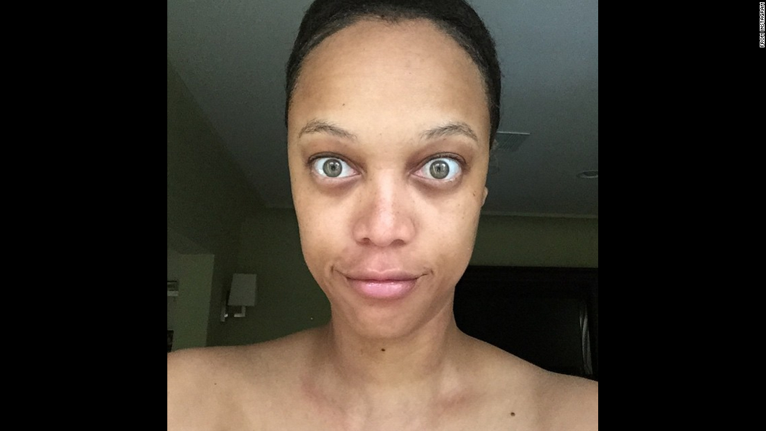 "Tyra Banks is a former supermodel who knows a thing or two about makeup and Photoshop. But in June 2015, <a href=""https://instagram.com/p/4CJxW3KQJc/"" target=""_blank"">she posted an unretouched, makeup-free photo of herself on Instagram</a> with the caption, ""You deserve to see the REAL me."""