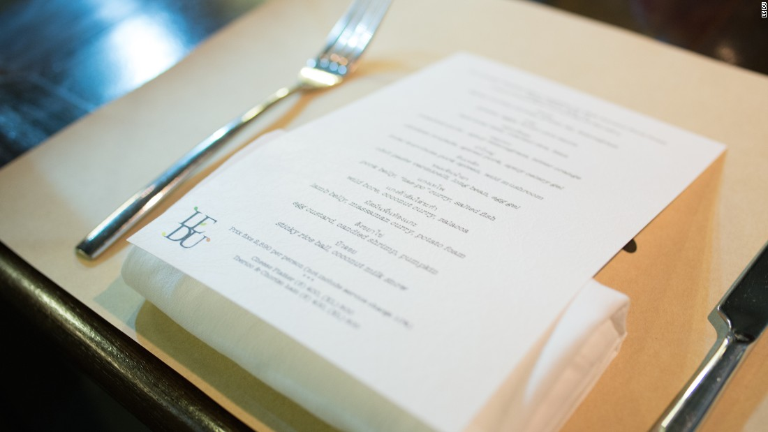 For anyone dining at Le Du, it's probably easiest to just pick one of the set menus (four- or seven-course) and enjoy the journey chef Ton Tassanakajohn has created. The food is identifiably Thai but at the same time unpredictable.