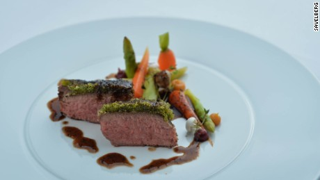 Chef Henk Savelberg hits a midpoint between classic French and nouvelle cuisine.