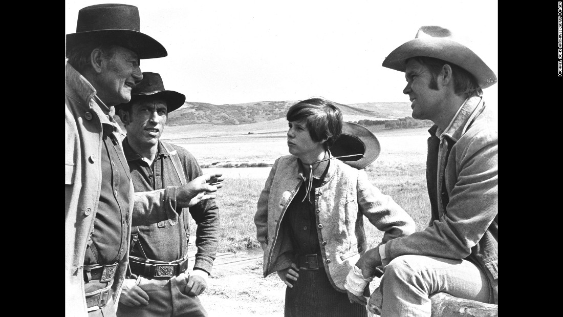 "In 1969, Campbell co-starred in the Western ""True Grit"" with John Wayne. Wayne, left, won an Oscar for his role as Rooster Cogburn."