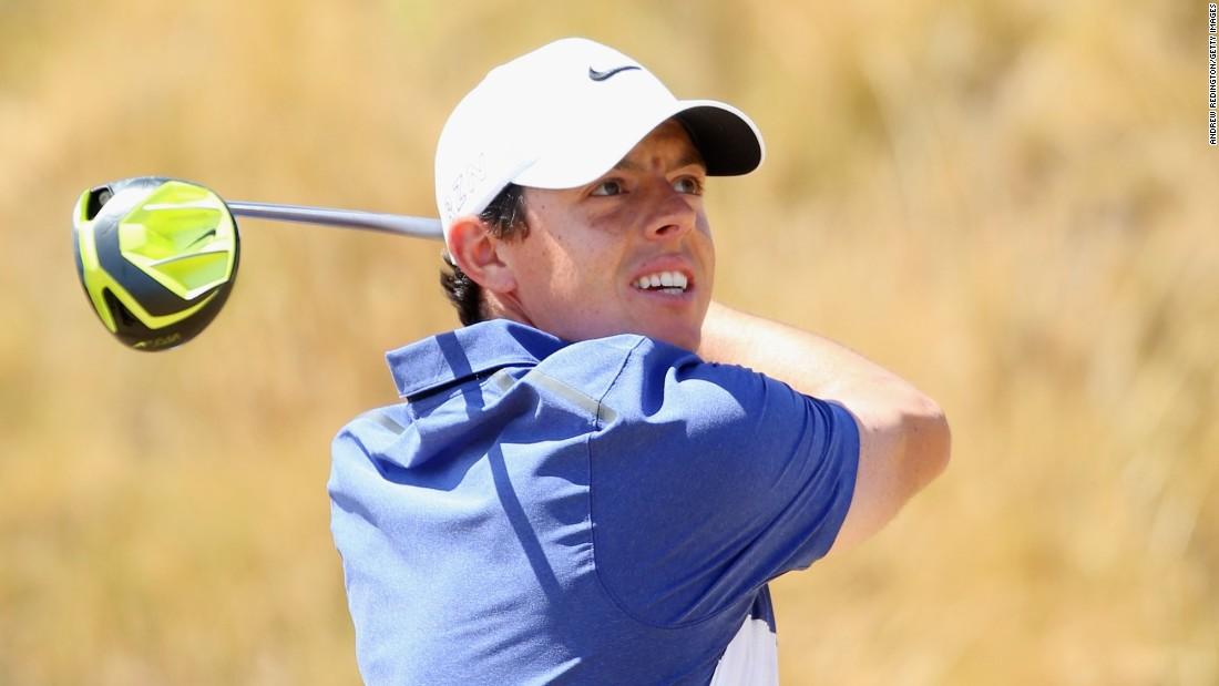 World number one Rory McIlroy launched a last day charge at Chambers Bay with a string of final round birdies in a 66 for level par.