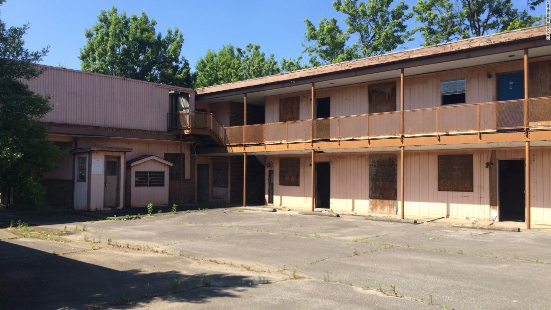 "The A.G. Gaston Motel in Birmingham, Alabama, which was built to welcome African-American guests during segregation, once hosted Martin Luther King Jr. and other civil rights leaders. It's now vacant and in need of serious repair<a href=""http://www.al.com/news/birmingham/index.ssf/2015/01/heres_whats_next_for_birmingha.html"" target=""_blank"">, and the city wants to make a restored structure</a> part of an urban renewal plan for the area. <br />"