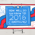 2016 election campaign logo candidates illustration